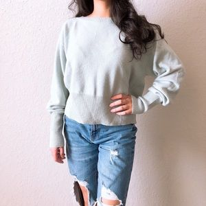 Theory Mint Relaxed Boat Cashmere Sweater